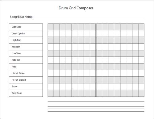 Download Drum Grid Composer PDF Worksheet