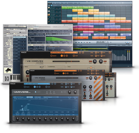 Magix Music Maker Pemium User Interface