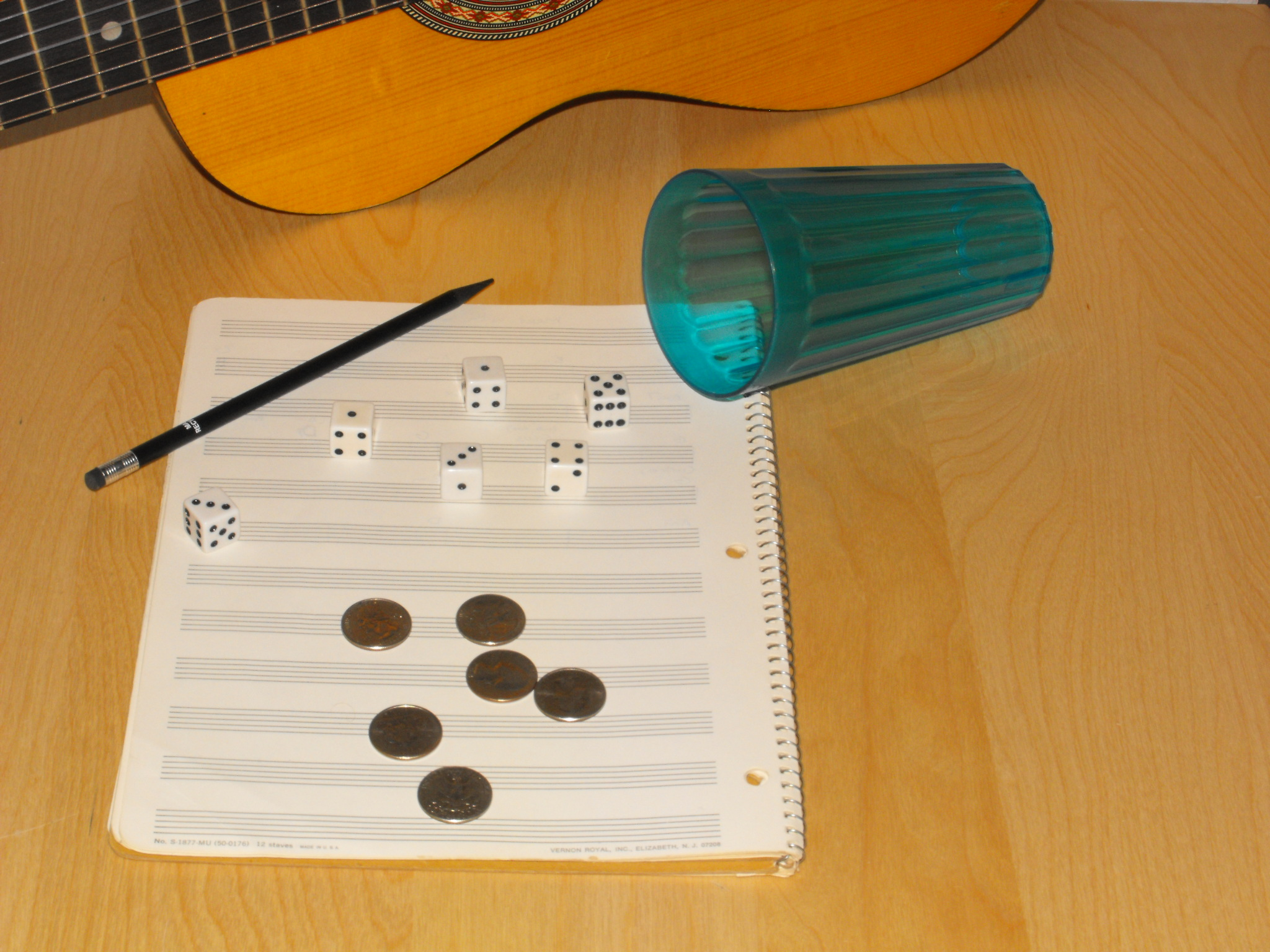 Music Composing Dice and Coin