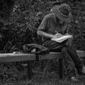 Songwriter Jotting Down Lyric Ideas