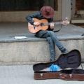 busker make money guitar music